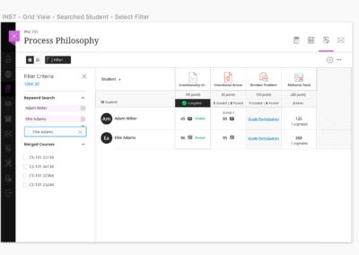 Gradebook Search and Filter
